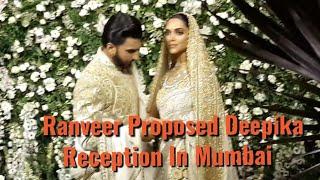 Ranveer Proposed Deepika At Reception In Mumbai - Deepveer Reception