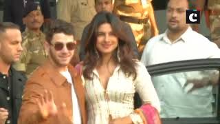 PeeCee, Nick leave for Jodhpur ahead of their destination wedding