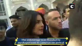 PeeCee arrives in Jodhpur for her destination wedding with Nick Jonas