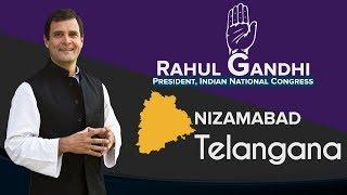 LIVE: Congress President Rahul Gandhi addresses a public gathering in Nizamabad, Telangana