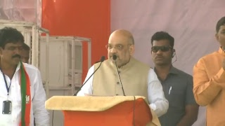 Shri Amit Shah's public meeting at Diet College Ground, Near Ramleela Ground, Adilabad, Telangana.