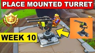 Place a Mounted Turret in different matches - Fortnite Week 10 Challenge (Where to find Turret)