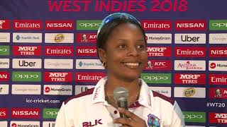 Mix Zone Windies Merissa Aguilleira