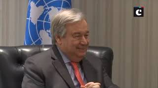 PM Modi holds bilateral meeting with UN Secretary-General Antonio Guterres