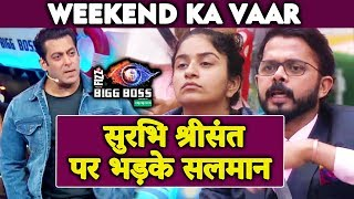 Salman Khan LASHES OUT At Surbhi And Sreesanth Here Why | Weekend Ka Vaar | Bigg Boss 12