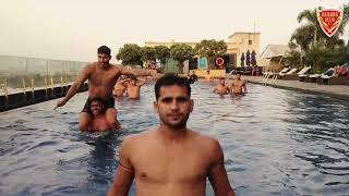 Swimming pool session with the Eagles