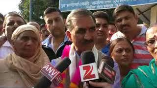सुक्खविन्द्र सिह सुक्खु ने नादौन विधानसभा क्षेत्र से उम्मीदवार के तौर पर नामांकन पत्र दाखिल किया