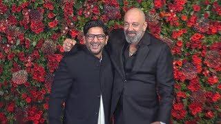 Sanjay Dutt And Arshad Warsi | Munna Bhai And Circuit At Deepika - Ranveer Wedding Reception Mumbai