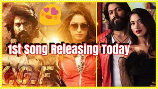KGF Movie 1st Song Releasing Today l How Excited Are You?