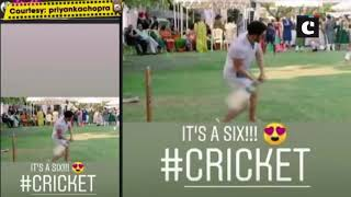 Priyanka & Nick pose for Bride vs Groom cricket match; here are some glimpse of all the fun