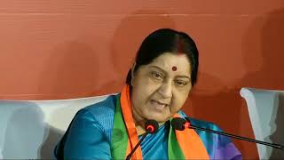 Hope we never have to learn the meaning of Hinduism from Rahul Gandhi: Smt. Sushma Swaraj