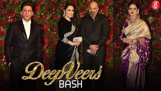 SRK Rekha Sanjy Dutt and others dazzle at DeepVeer's bash