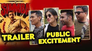 SIMMBA TRAILER | PUBLIC EXCITEMENT | Ranveer Singh, Sara Ali Khan | Rohit Shetty Film