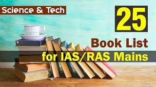 25 Book List  for IAS/RAS Mains (Science & Tech) by Khanna Sir | Formula UPSC