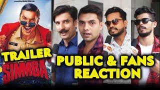 SIMMBA TRAILER | PUBLIC And FANS REACTION | Ranveer Singh, Sara Ali Khan | Rohit Shetty