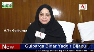 Kaneez Fatima MLA Gulbarga Ne Haz Khusroo Hussaini Sahab Ko Mohsin E Milat Award Par Mubarak Bad Di