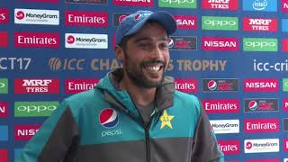 12 June, Cardiff Pakistan Mohammad Amir Speaks in Mixed Zone
