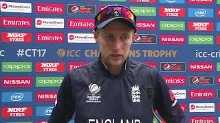 14 June, Cardiff England Joe Root speaks in Mixed Zone