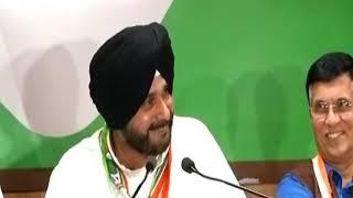 Navjot Singh Sidhu addresses media in Nasirabad, Rajasthan