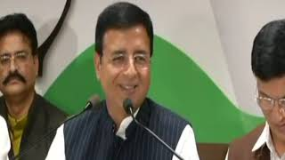 Rajasthan Election 2018: Randeep Surjewala addresses media in Jaipur, Rajasthan