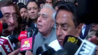 Kamal Nath and Kapil Sibal addresses media after meeting with EC