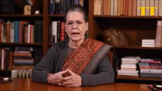 CONGRESS PRESIDENT SONIA GANDHI Appeal to the people of Telangana