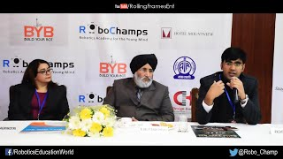 Press Conference  | Build Your Bot (BYB) | Robohamps | Chandigarh | January 2016