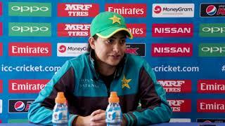 1 July, Derby Pakistan Sana Mir speaks to media ahead of her side's clash against India