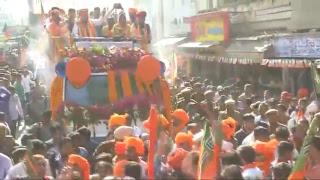 Shri Amit Shah's road show in Ajmer, Rajasthan 5.12.2018