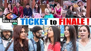 TICKET TO FINALE | Who Deserves To Be FIRST In TOP 5 | PUBLIC REACTION | Bigg Boss 12