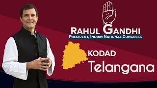 LIVE: Congress President Rahul Gandhi addresses a public gathering in Kodad, Telangana
