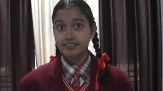 हमीरपुर पब्लिक स्कूल की छात्रा अद्विता शर्मा ने एनटीएसई  परीक्षा में  पाचवा स्थान हासिल किया