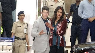Priyanka And Nick Jonas Returns To Mumbai For Wedding Reception