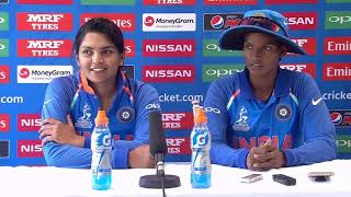 5 July, Derby - India - Deepti Sharma Veda Krishnamurthy post match press conference