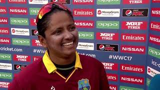 09 July, Derby - West Indies - Anisa Mohammed - Post Match Press Conference