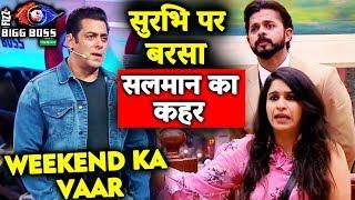 Salman Khan LASHES OUT At Surbhi Rana; Here's Why | Weekend Ka Vaar | Bigg Boss 12