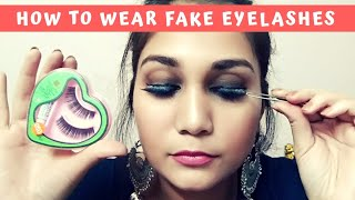 नकली पालकें कैसे लगाए? How to Wear False Eyelashes for Beginners in Hindi | Nidhi Katiyar