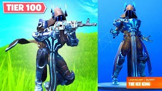 "TIER 100 UNLOCK ""MAX ICE KING"" & Max LYNX/ZENITH Fast! Season 7 LEVEL UP FAST! (Fortnite Season 7)"
