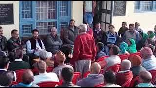 जंगल रोपा के गांव में सांसद अनुराग ठाकुर ने पार्टी कार्यकर्ताओं  के साथ की बैठक ।