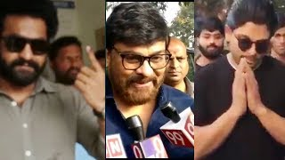 Jr NTR chiranjeevi and Allu Arjun casting their votes in Telangana Elections 2018 | Daily Poster