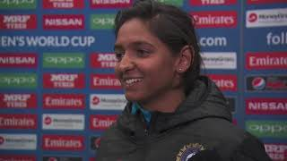 20 July, Derby - India - Harmanpreet Kaur Speaks In The Mixed Zone