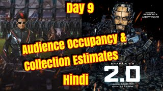 2Point0 Movie Audience Occupancy and Collection Estimates Day 9 In Hindi Version