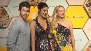 HOT COUPLE  Priyanka Chopra And Nick Jonas   Bumble's Launch Party in Mumbai