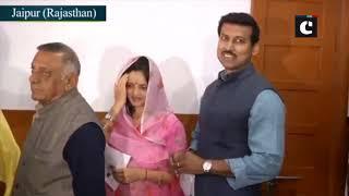 Rajasthan polls: CM Vasundhara Raje, Minister Rajyavardhan Rathore casts their votes