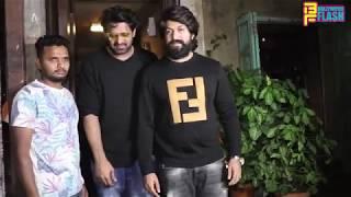 South Super Star Prabhas With KGF Star Yash & Anil Thadani At Paali Bhavan Bandra