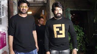 Baahubali Prabhas And KGF Star YASH PARTIES Together At Pali Bhavan Restaurant Mumbai