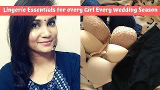 Lingerie Essentials for Every Girl Bras, Tummy Tucker and more for wedding season| Nidhi Katiyar
