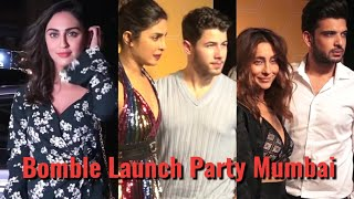 Just Married Couple Priyanka & Nick With Bollywood Celebs At Party Of Bomble Launch