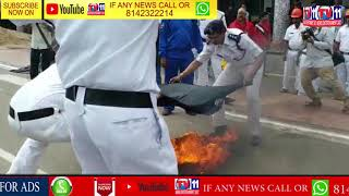 RAILWAY EMPLOYEES  CONDUCTS  MOCK DRILL FOR AWARENESS IN VIZAG RAILWAY STATION