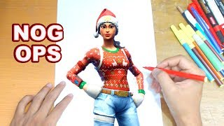FORTNITE Drawing NOG OPS - How to Draw NOG OPS | Step-by-Step Tutorial - Fortnite Season 7